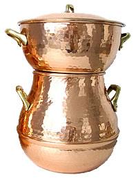チュニジア製銅製クスクス鍋