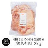 鶏肉 紀州うめどり もも肉 2kg (冷凍) 和歌山県産 銘柄鶏 鳥モモ肉(業務用) 【紀の国みかん鶏での代用出荷】