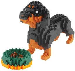 ミニ ブロック ブリストルブロック 積み木 知覚玩具 子供 かわいい こども 贈り物 誕生日 プレゼント 可愛い KLJM 02 ダックスフンド アニマル 犬 組み立て おもちゃ 知育 玩具