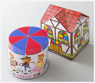 チロリアン 丸1号缶 【お歳暮・お年賀・クリスマス・内祝・お供えに】【福岡博多お土産の定番品】…