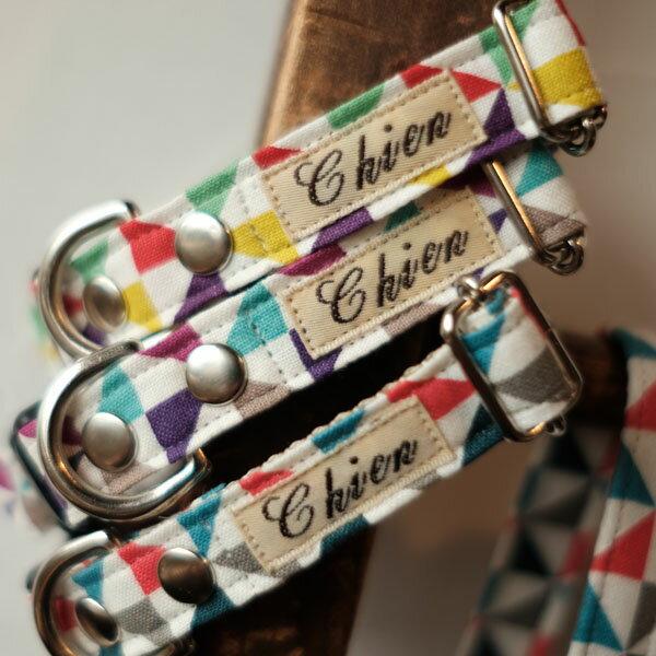 首輪1cm幅&1.5cm幅カラーWindmillシリーズ犬首輪【オーダーメイド商品】【犬首輪・猫首輪】