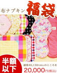 【半額以下商品】布ナプキン20枚と洗濯用のバケツと洗剤、吸収力アップのためのパッドまでひと...