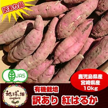 さつま芋 訳あり 紅はるか 10kg 有機栽培 鹿児島県産 宮崎県産 規格外 大きさおまかせ organic オーガニック
