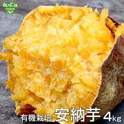 安納芋有機栽培4kg種子島・屋久島産金の蜜芋土付きさつまいも薩摩芋サツマイモからいもあんのういも国産スイートポテト焼き芋無農薬organicオーガニック