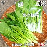 小松菜 200g×10P 有機栽培 鹿児島県産 無農薬 オーガニック organic こまつな コマツナ 冷蔵便