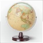 【メーカー直営店 地球儀 インテリア 日本製】ギフトに最適。32cm 行政 地球儀 WQ(木台)