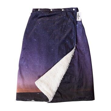 スカート ブランケットひざ掛け ポカポカ ぬくぬく 巻きスカート フリーサイズ 冷え対策 防寒 コーデュロイ オーロラ柄 ボア素材 あったか素材 冷え性 家事 省エネ アウトドア プレゼント
