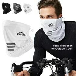 2020夏用 冷感マスク フェイスカバー UV スポーツ 日焼け防止 夏用 フェイス マスク ネックカバー メンズ 紫外線対策 ネックガード フィッシング 自転車 サイクリング ウォーキング 接触冷感 日よけ アウトドア