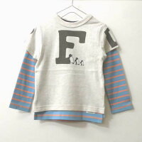 F.O.KIDSエフオーキッズ【2019春】【トップスTシャツ長袖Tシャツ】2PTシャツ106089オフホワイト