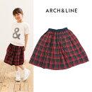 ARCH&LINE(アーチアンドライン)COOLMAXCHECKSKIRT-1503(チェック柄スカート)【115cm〜150cm】【メール便OK】