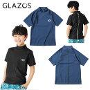 (20ss)GLAZOS(グラソス)半袖ラッシュガード-1613【130cm〜170cm】【メール便OK】