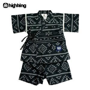 highking(ハイキング)stallセット(甚平)-3412【80〜130cm】【宅配便】