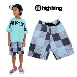 highking(ハイキング)patchショーツ(ショートパンツ)-2390【130cm|140cm|150cm|160cm】【メール便OK】