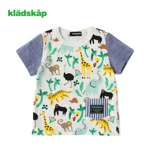 kladskap(クレードスコープ)アニマル柄半袖Tシャツ-1224【90cm 100cm 110cm 120cm】【メール便OK】