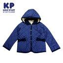 (SALE 30%OFF)KP(ケーピー)裏地花柄のキルティングジャケット-3301【120cm 130cm】【宅配便】KP(ニットプランナー)