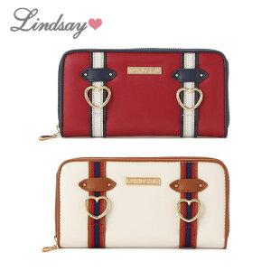 LINDSAY(リンジィ)Wラインベルト長財布-1416【FREE】【宅配便】