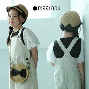 maarook(マルーク)レース×チュール袖Tシャツ-1268【100cm〜140cm】【メール便OK】