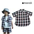 maarook(マルーク)チェックシャツ-4023【100cm〜140cm】【メール便OK】