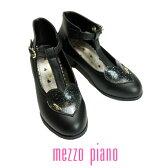 【SALE30%OFF】mezzo piano(メゾピアノ)ハートTストラップシューズ-3435【18〜22cm】【宅配便】