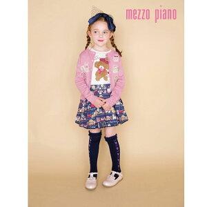 mezzopiano(メゾピアノ)くまフリルデザインTシャツ-3210【110cm|120cm|130cm|140cm】【メール便OK】