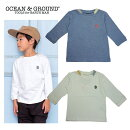 OCEAN&GROUND(オーシャン&グラウンド)BSETINT(長袖シャツ)9分袖-6002【90cm〜140cm】【メール便OK】