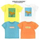 (SALE30%OFF)OCEAN&GROUND(オーシャン&グラウンド)プリントTシャツ-6113【80cm〜140cm】【メール便OK】