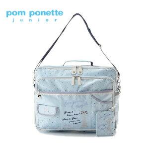 【送料・代引手数料無料】pomponettejunior(ポンポネットジュニア)チェックプリント3WAYバッグ-3416【F】【宅配便】