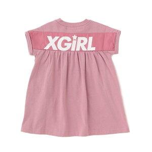 【追加企画】X-girlStages(エックスガールステージス)スポーツロゴワンピース-2331【90cm|100cm|110cm|120cm|130cm|140cm】【宅配便】