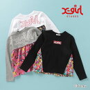(20aw)X-girlStages(エックスガールステージス)プリンセスコラボ長袖Tシャツ-3201【110cm|120cm|130cm|140cm】【宅配便】