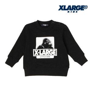 XLARGEKIDS(エクストララージキッズ)OGクルーネックロングスリーブスウェット-3205【90cm|120cm|130cm|140cm】【宅配便】