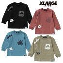 (20aw)XLARGEKIDS(エクストララージキッズ)ランダムプリント長袖Tシャツ-3206【120cm|130cm|140cm】【メール便OK】