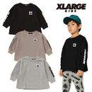 (20aw)XLARGEKIDS(エクストララージキッズ)ワッフルOG長袖Tシャツ-3208【120cm|130cm|140cm】【メール便OK】