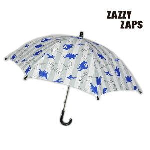ザジーザップス(ZAZZYZAPPS)ストライプダイナソー柄カサ-1652【S・M・L】【宅配便】