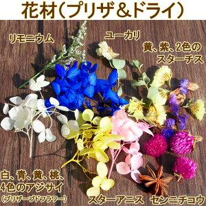 手作りハーバリウムキット植物標本花ギフト自分で作るオリジナルボトルドライフラワーハーバリウムオイル付き