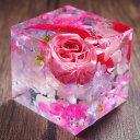 ハーバリウム クリスタルハーバリウム フラワーキューブ 母の日 母の日ギフト 送料無料 2020 プレゼント 赤い薔薇 ローズ 3D 誕生日 固める 固まる おしゃれ 送料無料 アートリウム 枯れない プリザーブドフラワー・・・