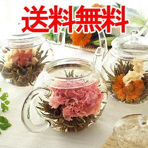 送料無料 年間ランキング1位(2011花ジャンル) あす楽対応可 送料無料 工芸茶 フラワーギフト ...
