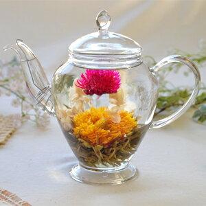 工芸茶 花かご5個 ポットで花が咲く工芸茶 ジャスミン茶ベースの工芸茶 キンセンカジャスミン千…