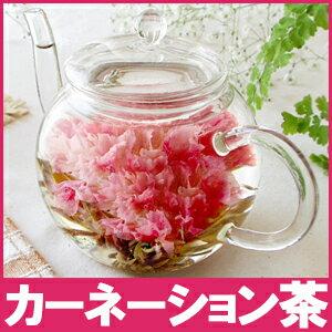 【お花のつぼみとティーポットセット】熱湯で花が咲く!カーネーション茶 楽天年間ランキング花...