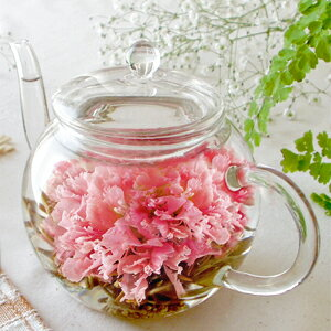 工芸茶 カーネーション5個 ポットで花が咲く工芸茶 ジャスミン茶ベースの工芸茶 カーネーション…