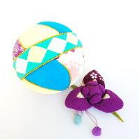 【ちりめん手毬と季節のお花シリーズ】菖蒲セット