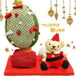 【クリスマス】うさぎくま飾りものインテリアクリスマス飾り可愛い玄関飾りキャラクターちりめん和柄