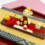 ミニチュア細工季節のお茶席セットくま和菓子栗羊羹きんつばお茶和風和雑貨置き飾りインテリア小物和細工贈り物お土産