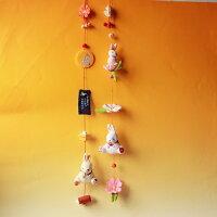 ちりめん細工季節の置き飾り9月縦に飾れるお部屋飾り一本吊り
