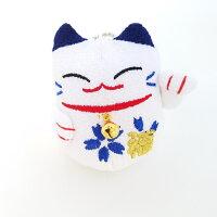 【招喜屋】まねき猫青桜マスコットボールチェーン60