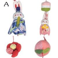 【ちりめん細工】一本吊り飾りうさぎ雛祭