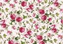【転写紙】ピンクアイビーローズ(背面ピンク)