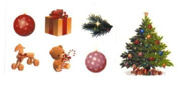 【転写紙】クリスマスツリーデコ 7ピース