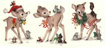 【転写紙】クリスマスバンビ 3ピース
