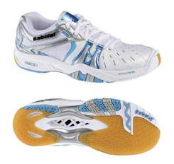 バボラ バドミントンシューズシャドウレディ ブルー(31F1189)(basf-1189)50%OFF!バドミントン ラケットスポーツレディース 女性用Babolat 2012年モデル特バド靴