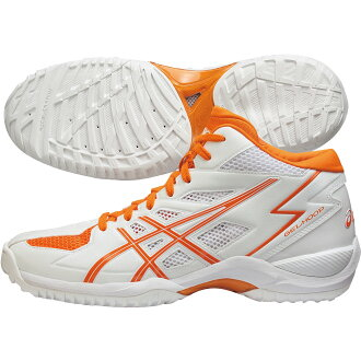 ASIC 籃球鞋圭爾夫了 V6 苗條 (GELHOOP V6 苗條) 白 × 橙色 TBF310-0109年 20 塞拉里昂 籃球籃球籃球籃球鞋 bash ASIC 2014 秋冬模型。